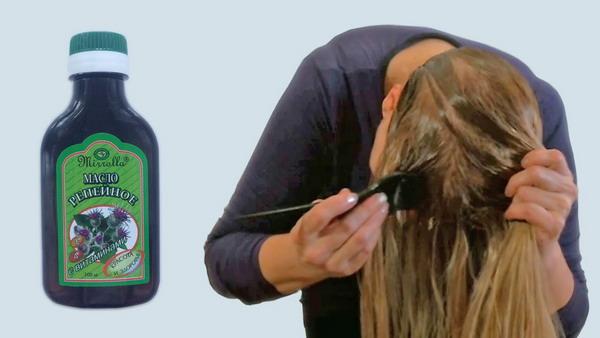 Маска тщательно распределяется по всей длине волос